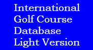 International Golf Course Database Light