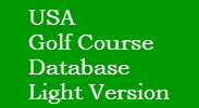 USA Golf Course Database Light